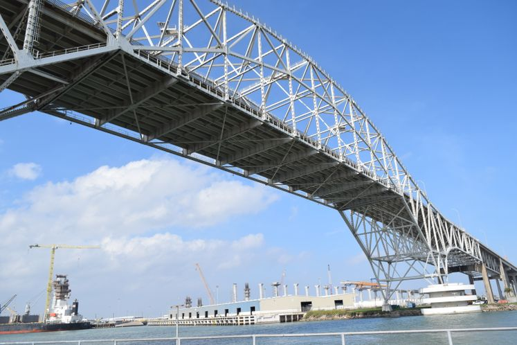 Harbor Bridge at Port of Corpus Christi