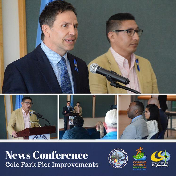 Cole Park Pier News Conference