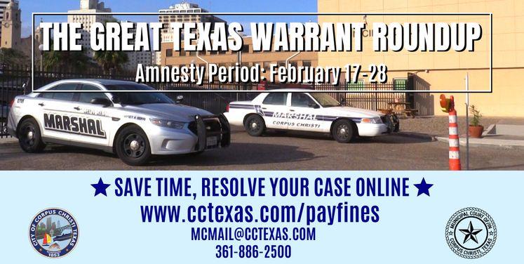 Warrant Roundup Amnesty