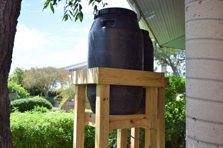 Rain Barrels at Xeriscape Garden
