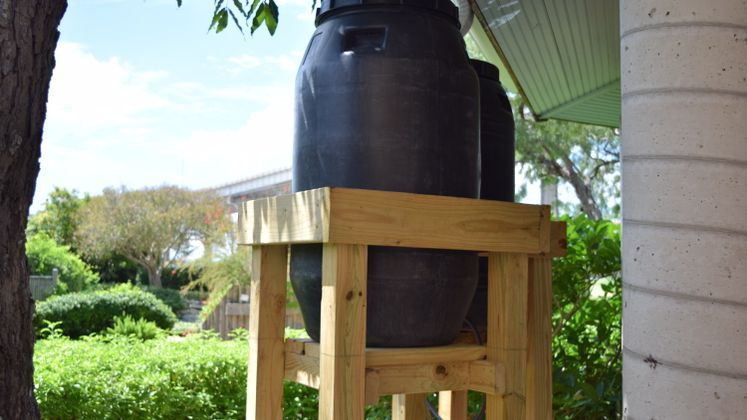 Rain Barrels at Xeriscape Garden