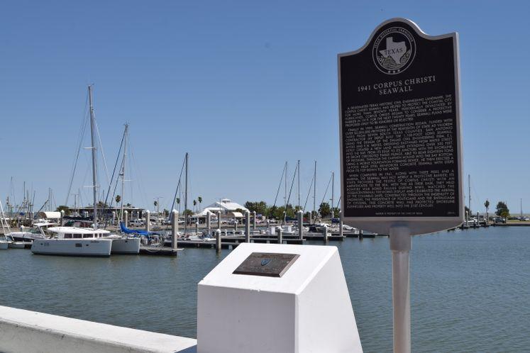 Seawall Historical Marker