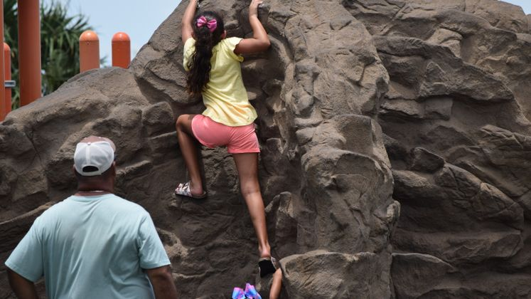 Rock Climbing at Kids Place