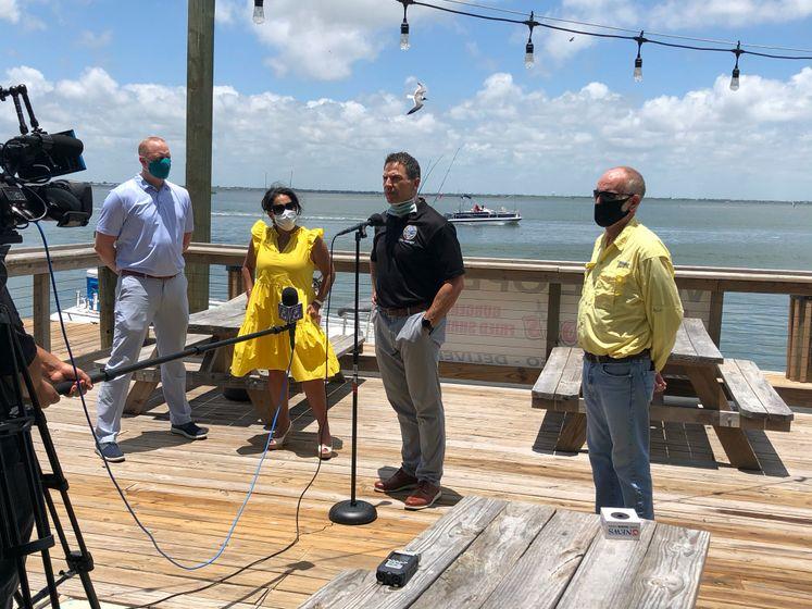 City Officials Tour the Island