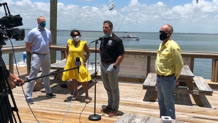 City Officials Tour the Island