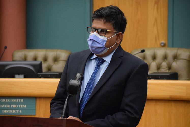 Dr. Ramachandruni Speaks During COVID-19 Update