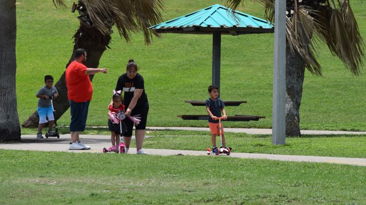 Family Enjoys the Day at Cole Park