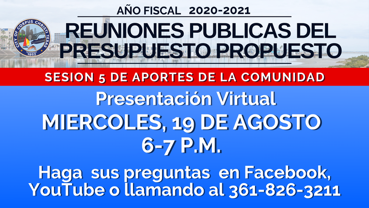 _Proposed Budget 2020-2021  Session 5 Spanish