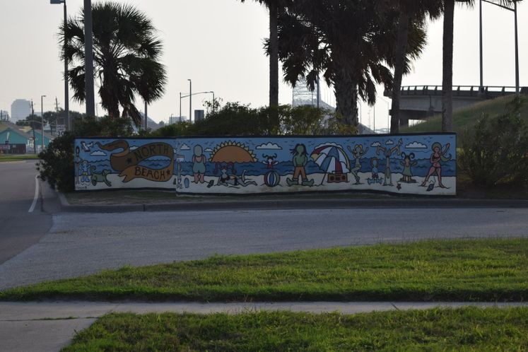 North Beach Mural painted by the National Art Honor Society of Carroll High School, 1995-1996