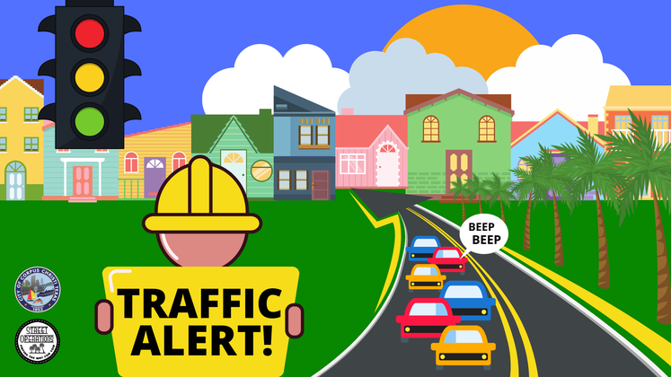 Traffic Alert Social Media Graphic 8-24-2020