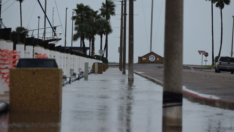 High Tides at Marina due to Tropical Storm Beta