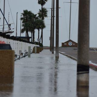 High Tides at Marina due to Tropical Storm Beta