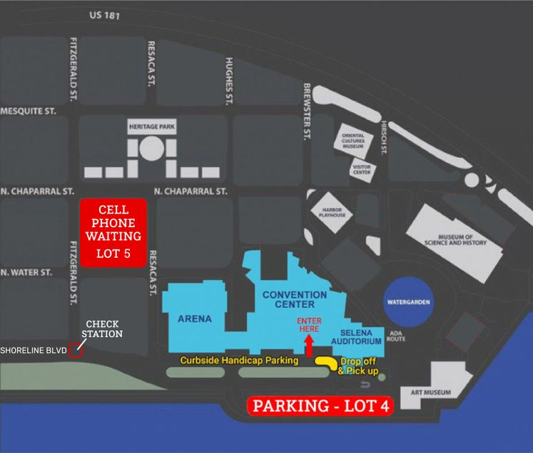_Driscoll Childrens Hospital Map