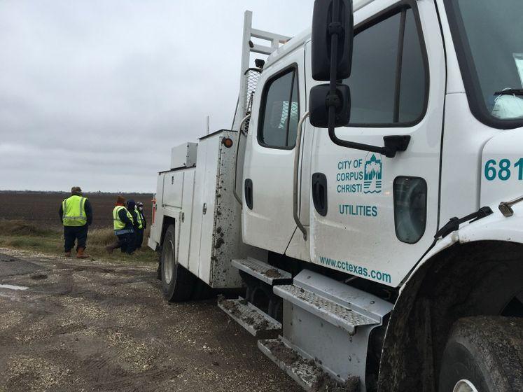 Water Utilities Crews Working on Water Lines