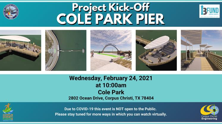 Social Media Graphic Cole Park Pier Project Kick-Off 1