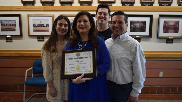 CFO Constance Sanchez Recognized for 30 Years of City Service