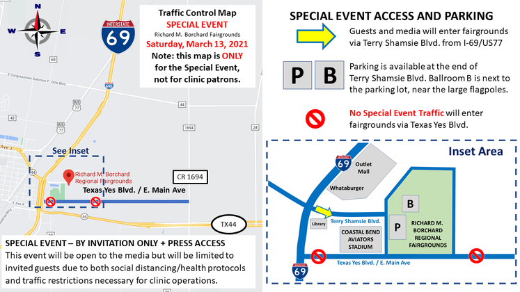 Traffic Flow 13 March Special Event with Inset