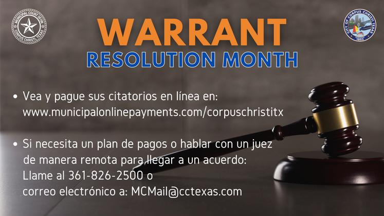 Spanish  Warrant Resolution Month 3-4-21 Revised