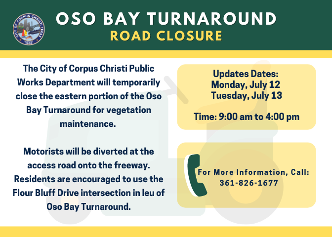 UPDATES Oso Bay Turnaround GFX