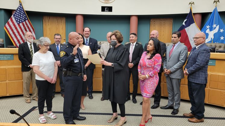 Mike Markle Sworn-in as Chief of Police