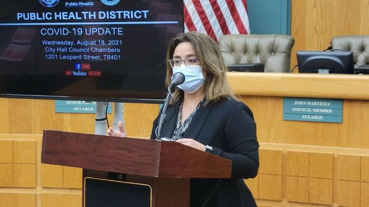 Health District Director Annette Rodriguez Addresses the Media Related to COVID-19 Spike