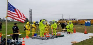 Hazmat Drill at ONSWTP