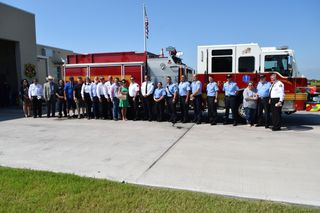 CCFD's Engine 18 Dedication