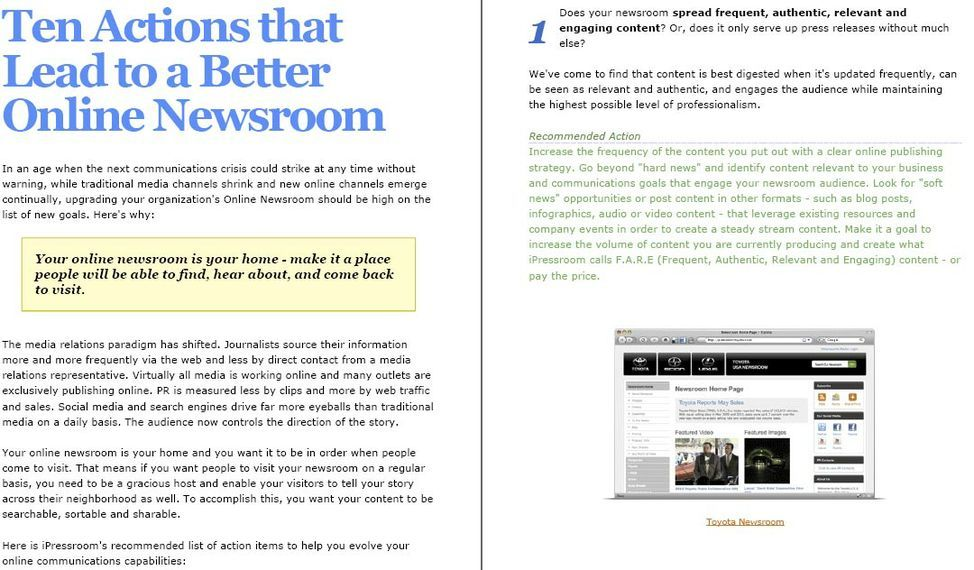 10 Actions that Lead to a Better Online Newsroom
