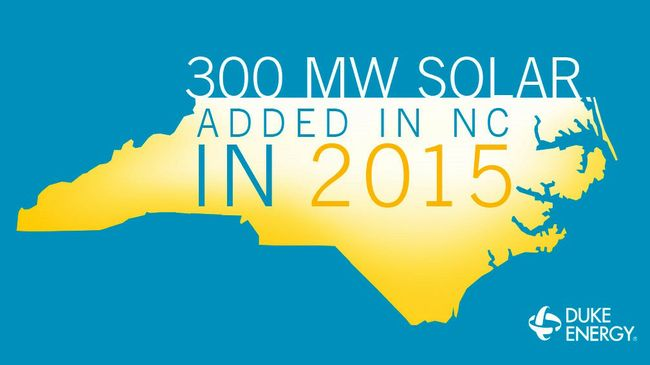 North Carolina solar was hot in 2015; Duke Energy led the charge