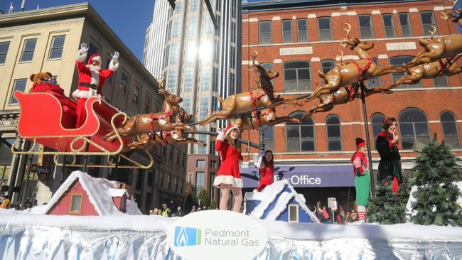 63rd annual Piedmont Natural Gas Nashville Christmas Parade presented by Tootsie's, now double the size, will be held Dec. 3