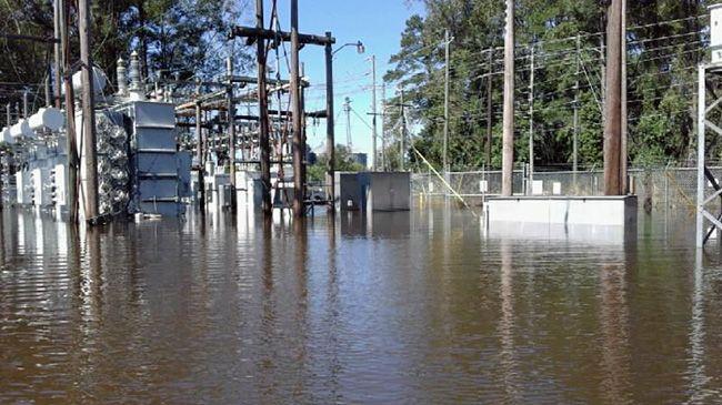 Substation flooding hampers restoration efforts