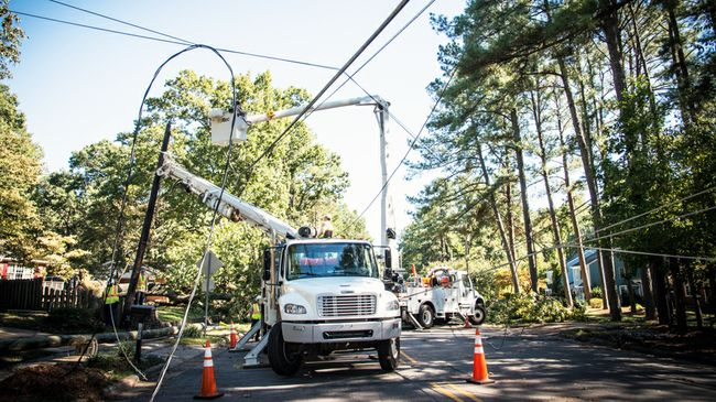 Duke Energy crews restore power to nearly 70% of Carolinas customers impacted by Tropical Storm Zeta