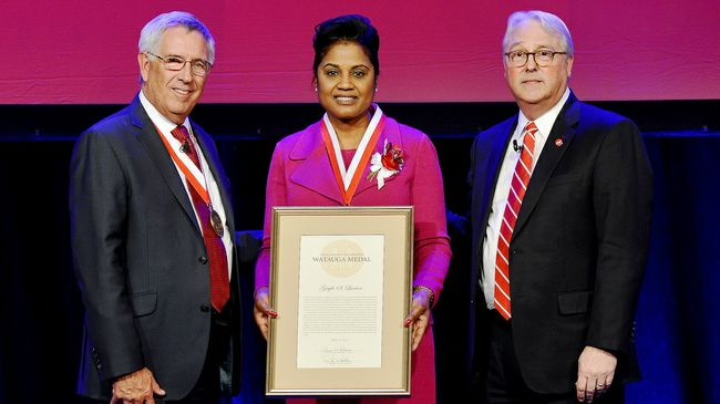 Duke Energy's Gayle Lanier receives NC State's highest nonacademic honor