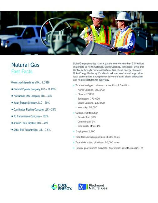 Natural Gas Fast Facts