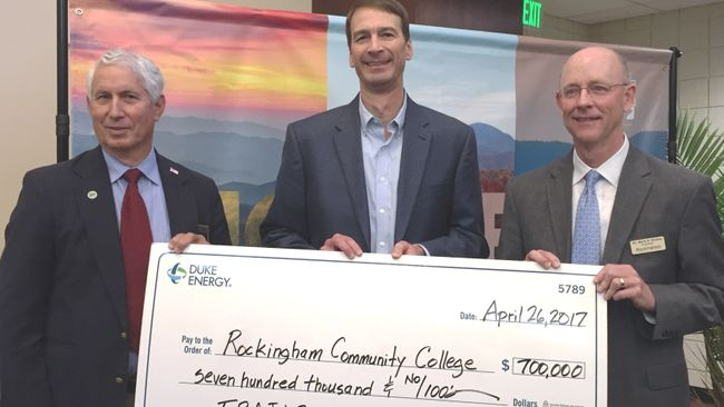 RCC Receives $700,000 Gift from Duke Energy