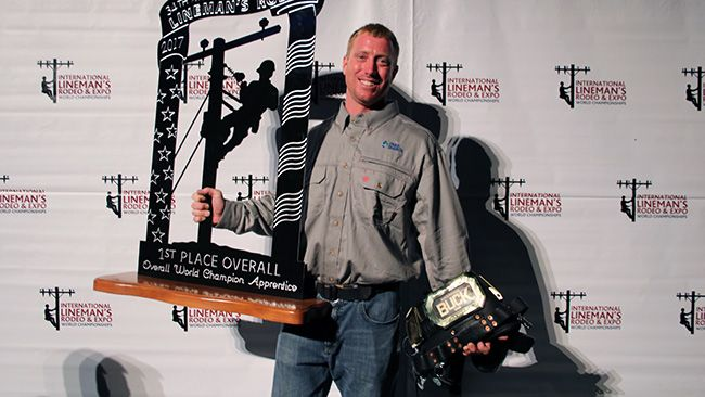 Duke Energy linemen rope in 18 awards at world rodeo competition with apprentice winning best in world
