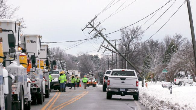 500,000 Duke Energy customers back online since weekend winter storm; 156,000 remain without power