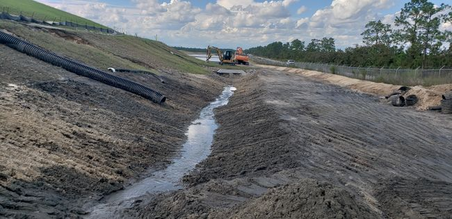 Sutton landfill repair work underway in the wake of Hurricane Florence. Photo uploaded Sept. 19, 2018.
