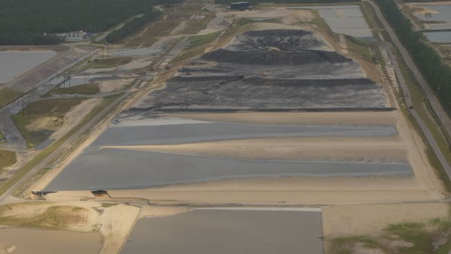 Sutton landfill after Hurricane Florence: view of landfill cells under construction. Photo uploaded Sept. 19, 2018.