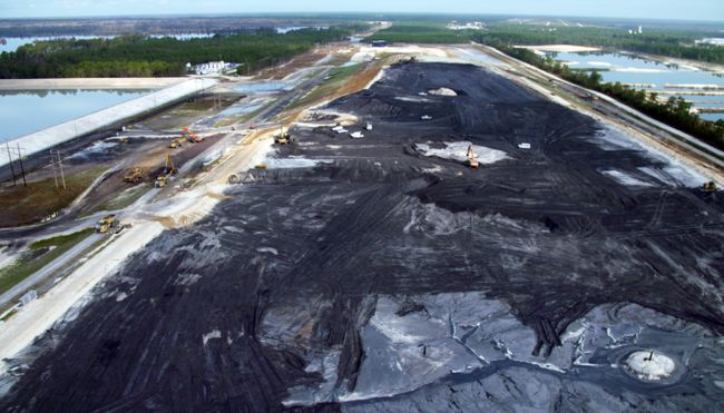 Repairs have begun at lined coal ash landfill under construction at the Sutton Plant. Photo uploaded on Sept. 22, 2018.