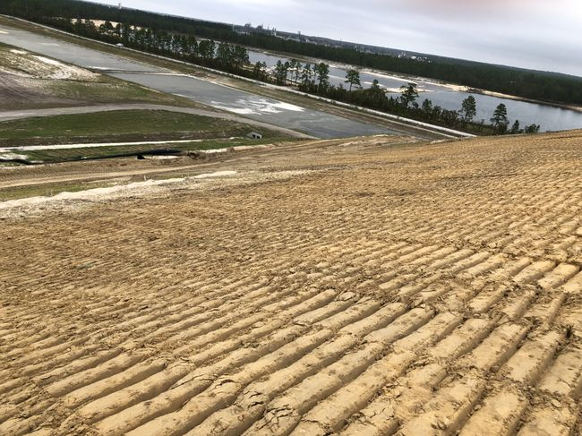 Repairs are progressing at the lined coal ash landfill under construction at the Sutton Plant. Photo uploaded Sept. 24, 2018.