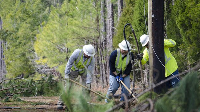 10,000 workers restoring power to remaining Duke Energy customers in Carolinas after Tropical Storm Michael