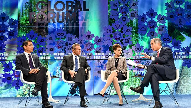 CEO Lynn Good talks clean energy at Fortune Global Forum