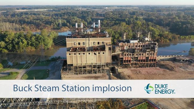 Buck Steam Station Implosion, October 2018