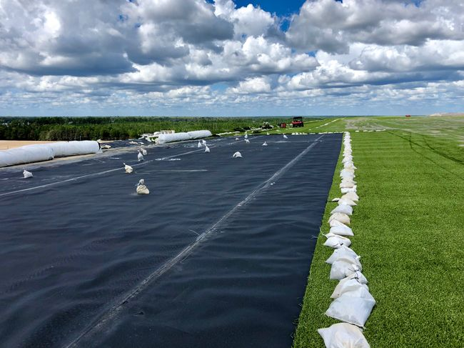 Sutton landfill cover system
