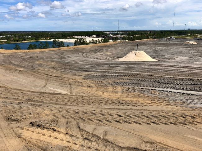 Sutton landfill cell under construction