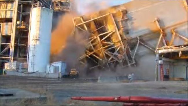 Duke Energy Cape Fear Plant Precipitator Implosion - Nov. 5, 2014
