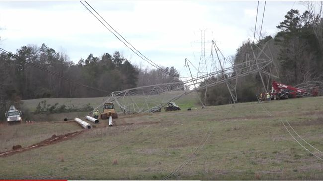 Carolinas storm - Feb. 7, 2020 - (Kings Mountain, N.C.)