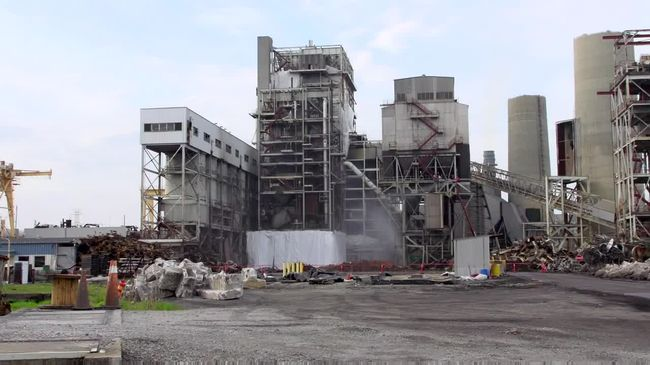 Sutton Plant Boiler #2 Implosion - May 2016