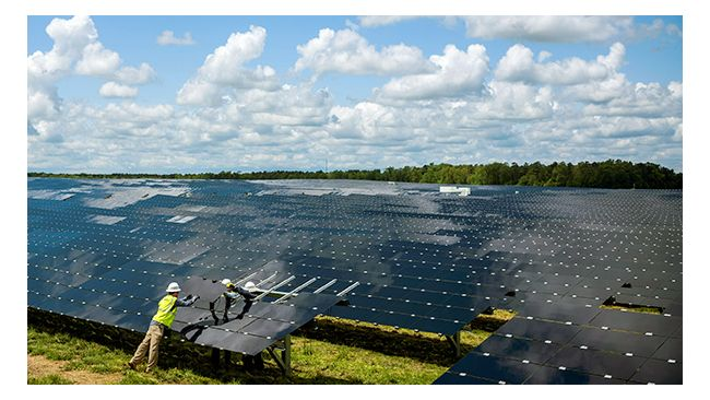 Solar energy shines in North Carolina